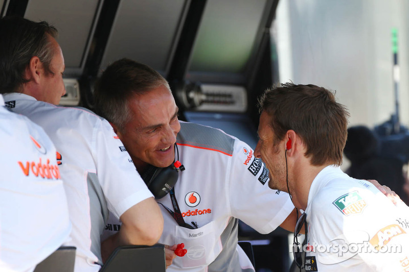 (L to R): Sam Michael, McLaren Sporting Director with Martin Whitmarsh, McLaren Chief Executive Offi