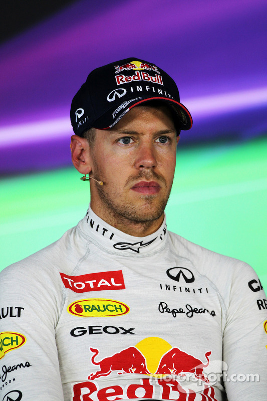 Sebastian Vettel, Red Bull Racing in the FIA Press Conference