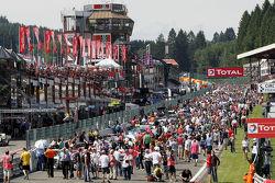 Fans during pre-race activities