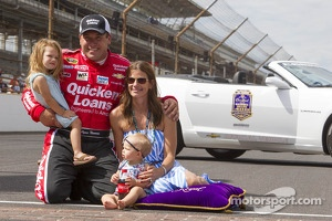 Ryan Newman and family celebrating the Brickyard 400 victory