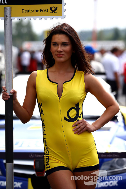 Grid girl of Gary Paffett, Mercedes AMG DTM-Team HWA DTM Mercedes AMG C-Coupe at Moscow - DTM Photos