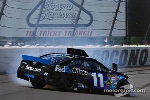 Trouble for Denny Hamlin, Joe Gibbs Racing Toyota