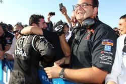 Jose Maria Lopez, BMW 320 TC, Wiechers-Sport race winner and Dominik Greiner, Team Principal, Wiechers-Sport
