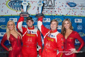 GTC podium: third place Sean Edwards, Henrique Cisneros with the lovely MOMO girls