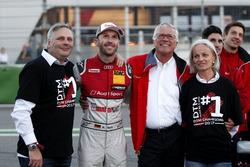 Чемпіон Рене Раст, Audi Sport Team Rosberg, Audi RS 5 DTM, з батьком та Арно Зенсен, Audi Sport Team Rosberg