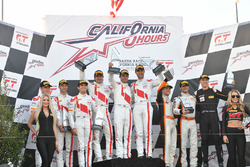 Podium: race winners Kelvin van der Linde, Pierre Kaffer, Markus Winkelhock, Team Magnus, second place Connor de Phillippi, Christopher Mies, Christopher Haase, Land-Motorsport, third place Alvaro Parente, Bryan Sellers, Ben Barnicoat, K-Pax Racing