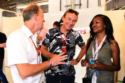 Bertrand Gachot, Nichole Galicia, Actress in the F1 Experiences 2-Seater garage