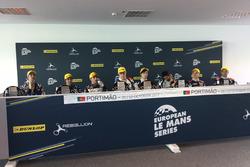 Pressekonferenz, #32 United Autosports, Ligier JSP217 - Gibson: William Owen, Hugo de Sadeleer, Filipe Albuquerque