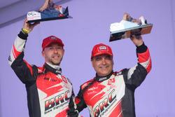 Giandomenico Basso e Lorenzo Granai, BRC Racing, podium