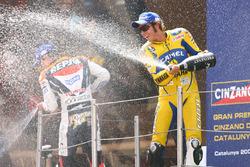 Podium: racewinnaar Valentino Rossi