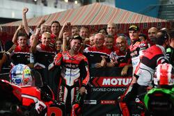 Marco Melandri, Ducati Team, Chaz Davies, Ducati Team in Parc Ferme