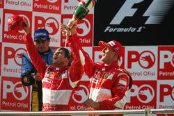 Podium: race winner Felipe Massa, Ferrari, third placeMichael Schumacher, Ferrari