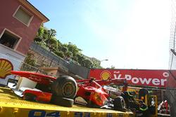 L'épave de la voiture de Felipe Massa, Ferrari