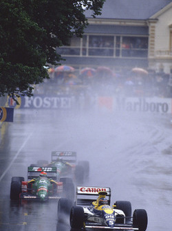 Thierry Boutsen, Williams FW13 Renault, Emanuele Pirro, Benetton B189 Ford, Alessandro Nannini, Benetton B189 Ford