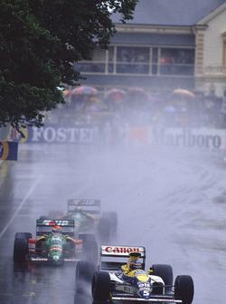 Thierry Boutsen, Williams FW13; Emanuele Pirro, Benetton B189; Alessandro Nannini, Benetton B189