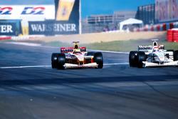 Ralf Schumacher and Winner Johnny Herbert
