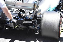Le diffuseur de la Mercedes AMG F1 W08