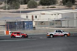 Crashed car of Daniel Lloyd, Lukoil Craft-Bamboo Racing, SEAT León TCR