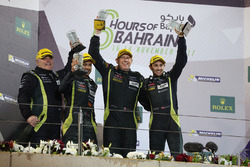Podium LMGTE AM: first place Paul Dalla Lana, Pedro Lamy, Mathias Lauda, Aston Martin Racing