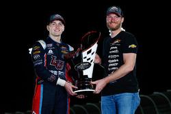 2017 champion William Byron, JR Motorsports Chevrolet, team owner Dale Earnhardt Jr.
