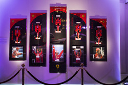 An Amalgam display celebrating the career of Michael Schumacher at Ferrari