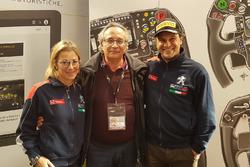 Il direttore di Motorsport.com - Italia, Franco Nugnes, con Paolo Andreucci e Anna Andreussi