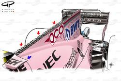 Capot moteur de la Force India VJM10, GP de Singapour