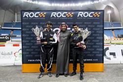Ahmed Bin Khanen and Fala Aljarba with Prince Khaled Al Faisal, President of the Motor Federation Of Saudi Arabia after ROC Factor Saudi Arabia