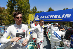 Alex Lynn, DS Virgin Racing, Edoardo Mortara, Venturi Formula E Team on the drivers parade