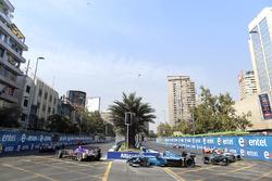 Алекс Линн, DS Virgin Racing, Николя Прост, Renault e.Dams, и Оливер Тёрви, NIO Formula E Team