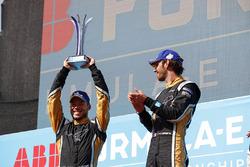 Jean-Eric Vergne, Techeetah, Andre Lotterer, Techeetah make up the first 1st 2nd finish in Formula E history