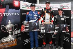 Podium: Race winner Richard Verschoor, second place Robert Shwartzman, third place Clement Novalak