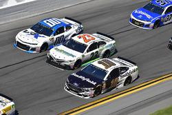 Aric Almirola, Stewart-Haas Racing Ford Fusion, Gray Gaulding, BK Racing, Toyota Camry, Jeffrey Earnhardt, StarCom Racing Chevrolet Camaro