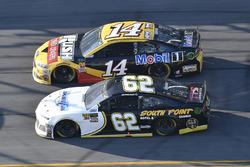 Brendan Gaughan, Beard Motorsports Chevrolet Camaro, Clint Bowyer, Stewart-Haas Racing, Rush Truck Centers/Mobil 1 Ford