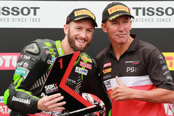 Polesitter Tom Sykes, Kawasaki Racing, Troy Bayliss