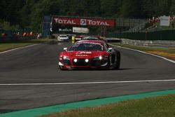 Pace lap; #2 Belgian Audi Club Team WRT Audi R8 LMS Ultra: André Lotterer, Christopher Mies, Frank Stippler