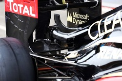 Lotus F1 E21 rear wing detail