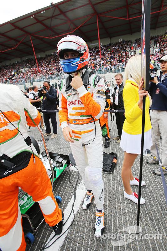 Paul di Resta, Sahara Force India F1 no grid