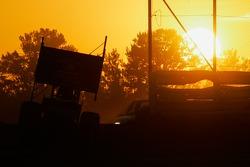 pôr-do-sol no corridatrack