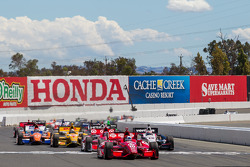 Race start at Sonoma Raceway