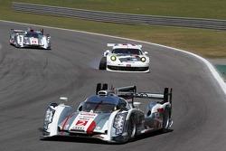 Tom Kristensen, Loic Duval, Allan McNish, Richard Lietz, Porsche AG Team Manthey, Porsche 911 RSR who have a puncture