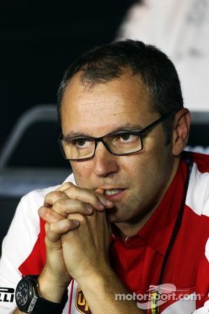Stefano Domenicali, Ferrari General Director in the FIA Press Conference