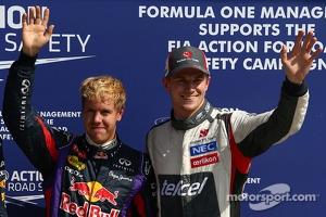 Pole position for Sebastian Vettel, Red Bull Racing and 3rd for Nico Hulkenberg, Sauber
