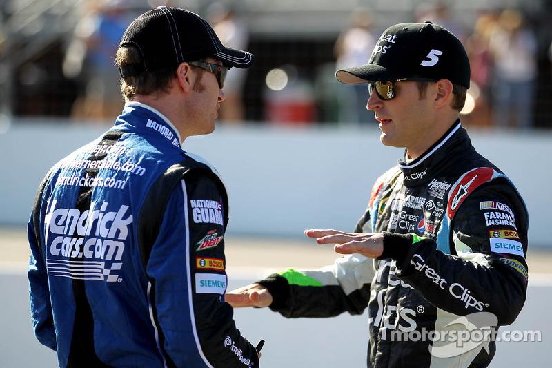 Dale Earnhardt Jr. en Kasey Kahne