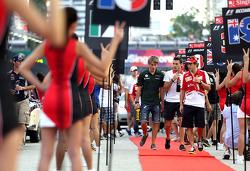 Fernando Alonso, Scuderia Ferrari y Charles Pic, Catheram Formula One Team , Jules Bianchi, Marussia Formula One Team