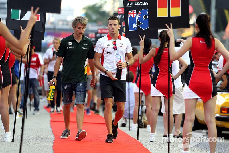 Charles Pic, Catheram Formula One Team and Jules Bianchi, Marussia Formula One Team