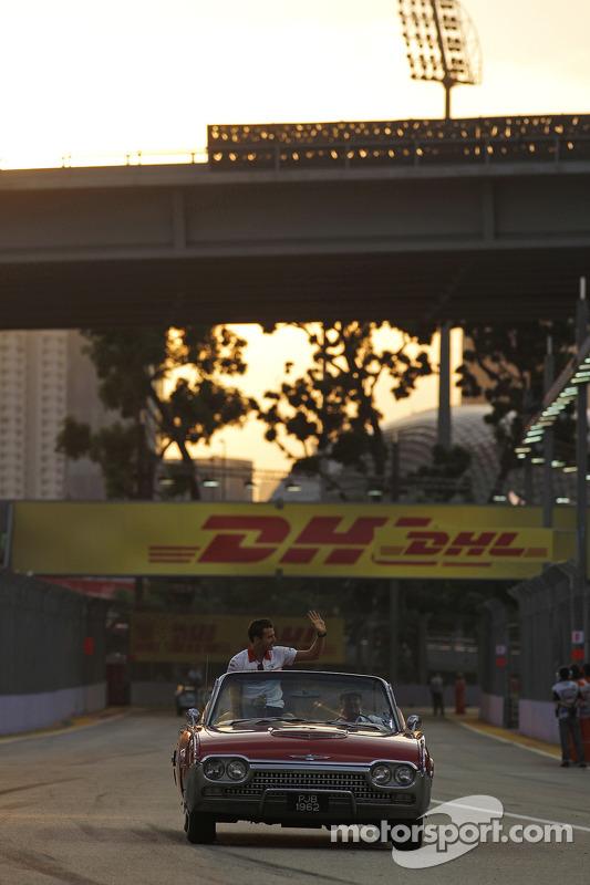 Jules Bianchi, Marussia F1 Team MR02 no desfile de pilotos