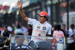 Sergio Perez, McLaren on the drivers parade
