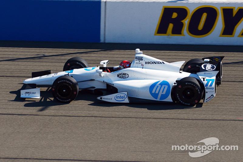 Simon Pagenaud, Schmidt Peterson Motorsport Honda test the twin turbo engine