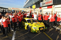 Team Phoenix Racing celebrates their champion Mike Rockenfeller